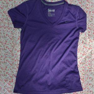 Nike Tops - Nike Dri-Fit V-Neck Tee Regular Fit Purple Small